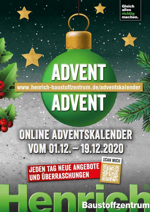 Adventskalender Plakat